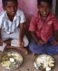 <b>Lunchtime</b> Midday meal at Vadakattupatty school in TN