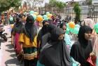 BJP Workers Protest Passage of Bill Increasing Muslim Quota