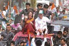 Priyanka and Rahul en route to filing his nomination papers from Amethi, April 12