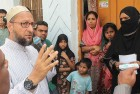 <b>Well-connected</b> Asaduddin Owaisi canvassing