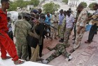 Dead body of an Al Shabab fighter who was killed during an attack on Somalia's parliament.