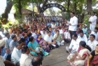 <b>Division Bell:</b> Telangana non-gazetted officers union staging a protest