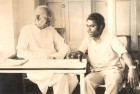 <b>Icon Keeper</b> The writer, with Jayaprakash Narain