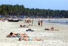 <b>Sand Storm</b> The scene at a beach in Goa