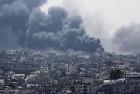 Smoke seen after an Israeli missile hit Shijaiyah in Gaza City, northern Gaza Strip.