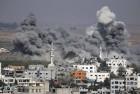 Smoke rises after an Israeli strike in Gaza City.