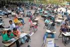 <B>Preparation ground</b> An open ground in Hyderabad for aspirants