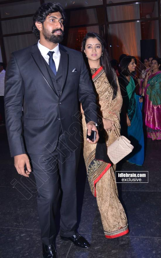 Actors Rana Daggubati And Trisha At K Raghavendra Rao S Son Wedding