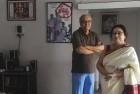 Soumitra Chatterjee and Madhabi Mukherjee, co-stars in Satyajit Ray's <i>Charulata</i>, pose for <i>Outlook</i> at Madhabi's Calcutta residence