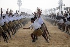 <b>Branching out</b> An RSS shakha going through their routine in Nadia, West Bengal