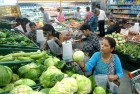 <b>Leafy side up?</b> Vegetables section at a Delhi super bazaar