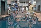 <b>Varanasi, September 2014</B> Overflowing gutters in the Bajardhia locality in Varanasi