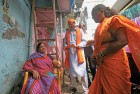 A Shiv Sena worker solicits Gujarati vote