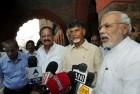 Chandrababu Naidu Meets PM, Raises Issue of Special Status to AP