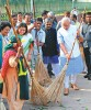 <b>Sweeping away a past?</b> Modi launching Swachh Bharat