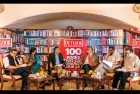 <b>The eminences</b> Jury members Mukul Kesavan, Nilanjana Roy, Sunil Sethi, Mani Shankar Aiyar, David Davidar and moderator Satish Padmanabhan at the Villa Medici, Taj Mahal Hotel, Mansingh Road, New Delhi
