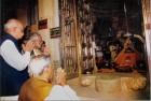 A rare file photo of Atal Bihari Vajpayee, L K Advani and Narendra Modi at Somnath temple (Gujarat)