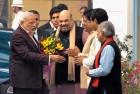<b>Mission Accomplished</b> Modi and Shah at BJP's parliamentary board meeting