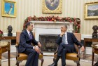 <b>Star performer</b> Richard Verma during a tete-a-tete with President Barack Obama