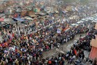 <b>A belated campaign</b> The Rahul Gandhi roadshow in Kalkaji takes off long after the others have hit the road