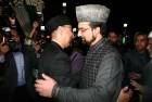 Pakistani High Commissioner to India Abdul Basit with Chairman of moderate faction of Hurriyat Conference Mirwaiz Molvi Mohammad Umar Farooq