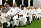 <b>Eyes shut</b> Siddaramaiah at a UPA-2 meet