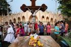 <b>Matter of faith</b> Palm Sunday gathering at a church in Mumbai
