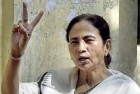 Mamata Banerjee after casting her vote during the Municipal Corporation Election.