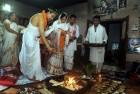 <b>Pre-ordained</b> Horideb, Mrinalini at their wedding at Bamungaon on May 12