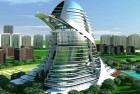 <B>Modern Aztec</b> An artist's impression of one of the housing complexes coming up in Gurgaon