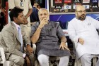 <b>Cricket connection</b> Lalit Modi, Narendra Modi and Amit Shah at an IPL match in Ahmedabad, March 2010