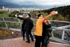 <b>Owning up</b> Young Iranians take selfies on the Tabi'at bridge