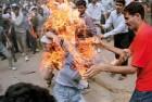 <b>Fiery stuff</b> Rajiv Goswami's self-immolation during the anti-Mandal riots, Delhi 1990