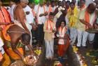 CM Naidu at the capital Amaravati 'bhoomi puja', Mandadam village, Guntur
