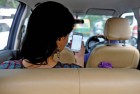 <b>Riding high</b> Journey in an Uber car