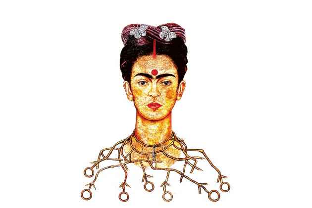 Frida kahlo self portrait with thorn necklace and hummingbird essay