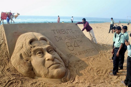 a p j  abdul kalam  latest news on a p j  abdul kalam  a p j     renowned sand artist sudarsan pattnaik creates a sand sculpture of former president apj abdul kalam to pay him tributes on his  th birth anniversary at