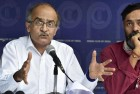 Bhushan Questions Wani's Killing, Accuses BJP of Fanning Communal Tension