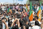<b>Shut Out?</b> CM Anandiben Patel on the local polls trail in Ahmedabad