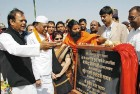 <B>Laid In Stone</b> Ramdev with S.K. Sahay, governor S.S. Razi etc at the Jharkhand Mega Food Park project, '09