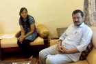 Arvind Kejriwal along with his wife Sunita at Jindal Naturopathy Centre.