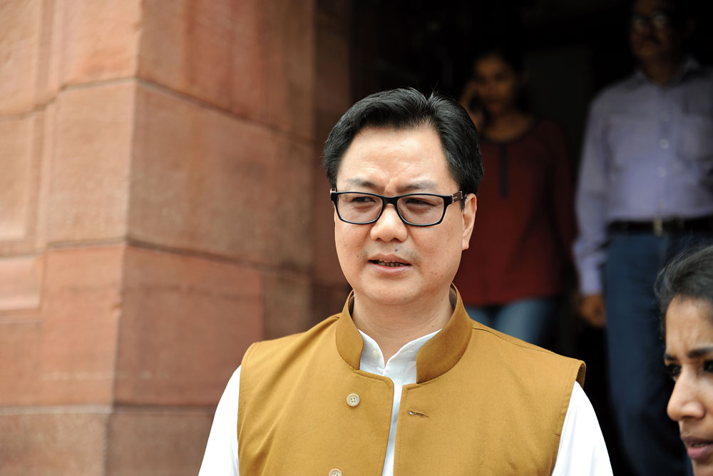 Don't Compare BJP-PDP Pact With Rowdy JNU Elements :   Kiren Rijiju, Minister of state for home, India on l'affaire JNU