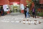 ABVP graffiti at the JNU campus