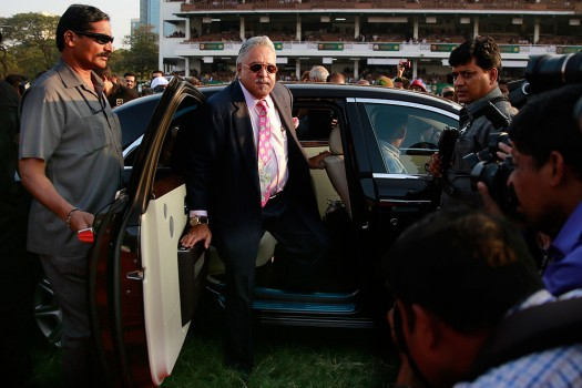 Vijay Mallya at the Mahalaxmi Race Course in Mumbai, 2015