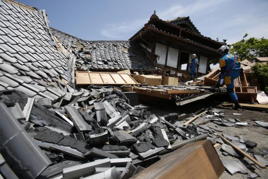 7.4-magnitude quake hits southern Japan kills nine