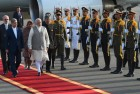 PM Modi Accorded Ceremonial Welcome in Iran