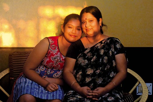 Jhumli Bhattacharjee with her daughter