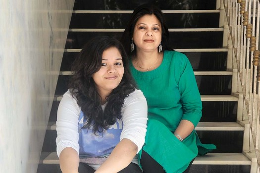 Mimi Raj with her daughter, Shreya