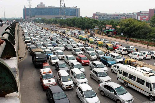 traffic jam latest news on traffic jam traffic jam photos  vehicles stuck in a massive traffic jam at shankar chowk in gurugram