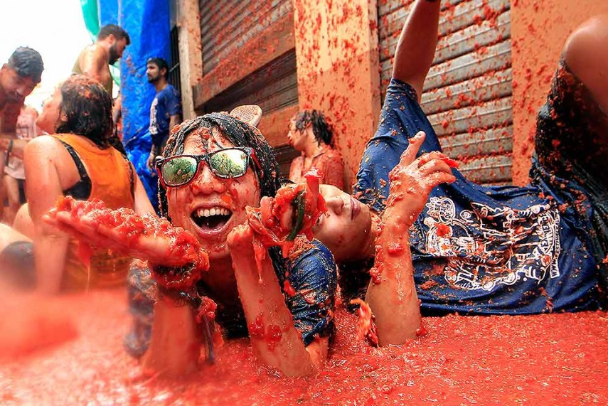 tomatina festival essay La tomatina 2014 squashed tomato holi  during the festival,  many from abroad to throw during the hour-long morning festivities during tomatina ap.